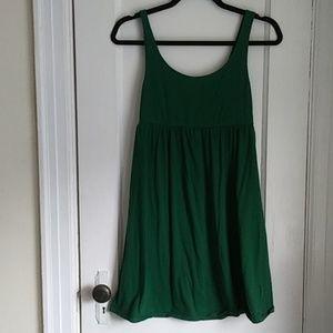 Green T-shirt Cotton Dress